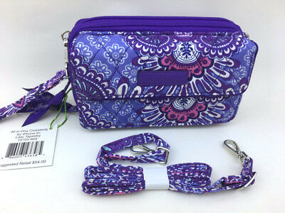 New with tags Vera Bradley All in One Crossbody and Wristlet in Lilac Tapestry