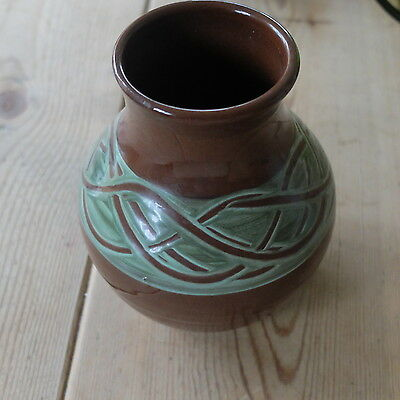 Vintage Holkham pottery celtic patterned pot