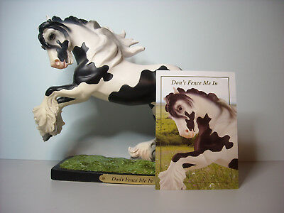 """The Trail Of Painted Ponies """"Don't Fence Me In"""" Gypsy Vanner by Kathleen Moody"""