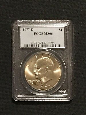 1977 - D PCGS MS66 Eisenhower Dollar ~ Registry IKE