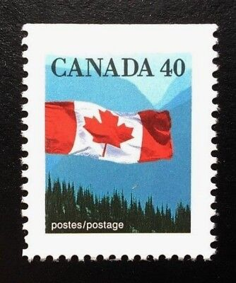 Canada #1169as Top AP MNH, Flag over Mountains Definitive Booklet Stamp 1990