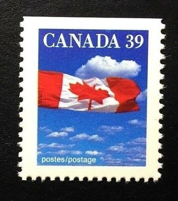 Canada #1166asi Top SP MNH, Flag over Clouds Definitive Booklet Stamp 1989