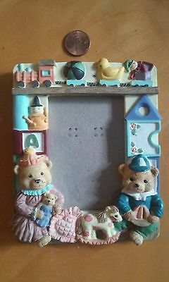 Picture Frame with Bears, Rocking Horse, Train