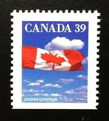 Canada #1166asi Bottom SP MNH, Flag over Clouds Definitive Booklet Stamp 1989