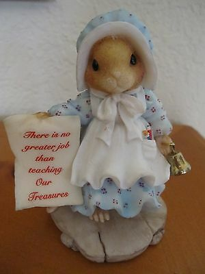 """1997 Enesco """"There's No Greater Job Than Teaching Our Treasures"""" Figurine"""