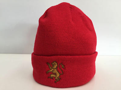 Official Edinburgh Capitals Red Woolly Hat Beanie with Logo