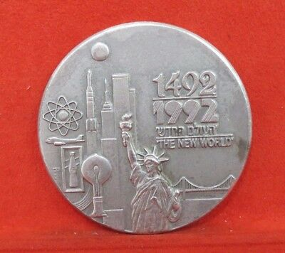 ISRAEL 1992 500th Anniversary Discovery of America 50mm 58.1g .999 PURE SILVER