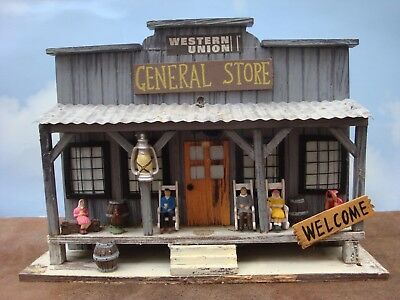 Western Union General Store Bird Feeder with O scale Figures