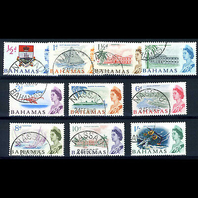 BAHAMAS 1965 Short Set to 1s. SG 247-256. Fine Used. (AF061)