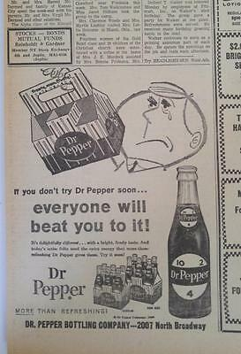 July 27, 1960 Newspaper Page #j5848- Dr Pepper- Everyone Will Beat You To It!