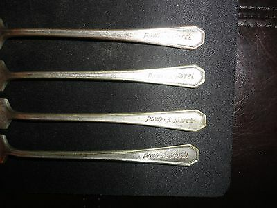 RARE LOT OF 7 VINTAGE ANTIQUE MSP Co. SILVERPLATE HOTEL POWERS FORK DINNINGWARE