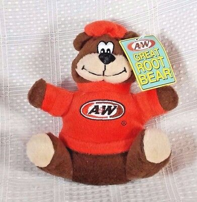 """2003 A&W Root Beer GREAT ROOTY BEAR w/Tags Plush 6"""""""