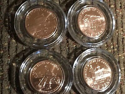 2009 Lincoln Penny Set, 4 pennies of Lincoln's Life, Proof-Like Business Strikes