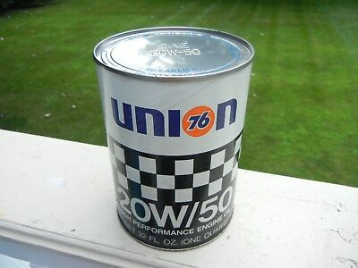 Vintage, UNION 76, RACING OIL CAN - FULL / Un-Opened