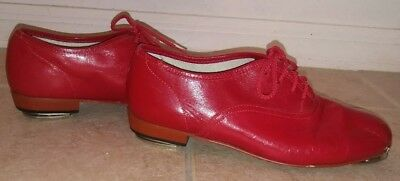 STEVEN'S STOMPERS Red Tap Clogging Shoes Size 9W Women's Leather Uppers Used