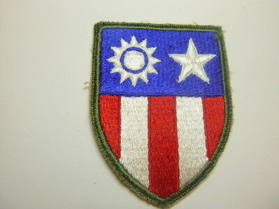 A     WW 2 U S Army C B I  Cut Edge Snow Back Patch