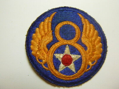 A     WW 2 U S Army 8th Air Force Cut Edge Snow Back Patch