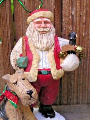 Airedale Terrier SANTA with a GOOSE Ornament!