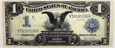 Series Of 1899 $1 Black Eagle Silver Certificate Fr#229 Circulated No Reserve