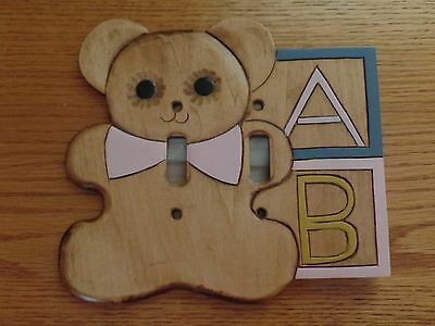 Children's Hand Crafted Teddy Bear Switchplate