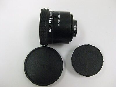 Vivitar VHE 50mm f2.8 German enlarging lens with 39mm thread and both ends caps