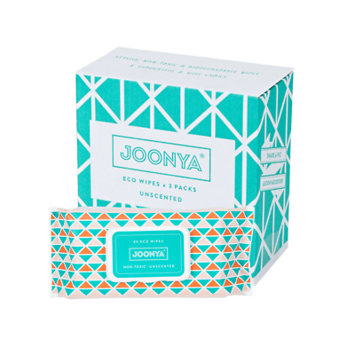 Joonya Non-Toxic, Biodegradable Baby Wipes - 3 Packs x 80 Wipes - Free Delivery