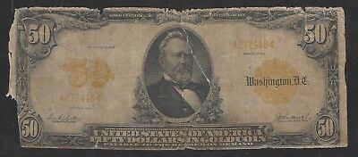 RARE!  1913 $50 Gold Cert FR. 1198 with Parker Burke signature combination!