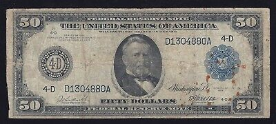 FR. 1036 $50 Cleveland Federal Reserve Note - Raw ungraded note