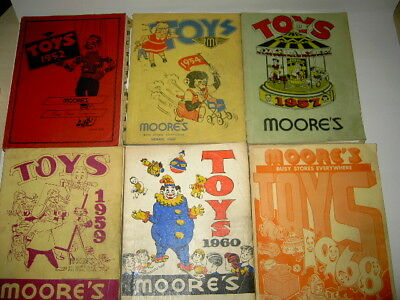 1952,54,57,59 60 +68 MOORE'S TOY CATALOGS for 1 bid