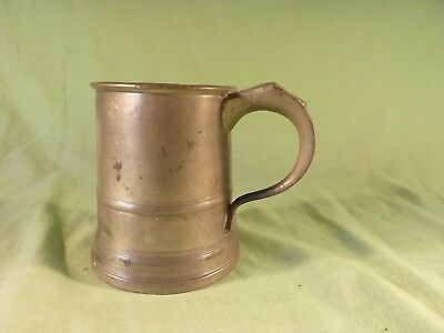 Antique Gaskell & Chambers Half Pint Pewter Tankard GR 6 Crown Stamp
