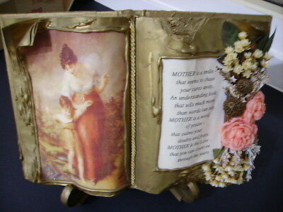 'Mother' Keepsake Faux Book on Stand