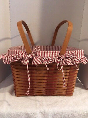 Longaberger 1993 Large Sweetheart or Picnic w/ Protector and Liner