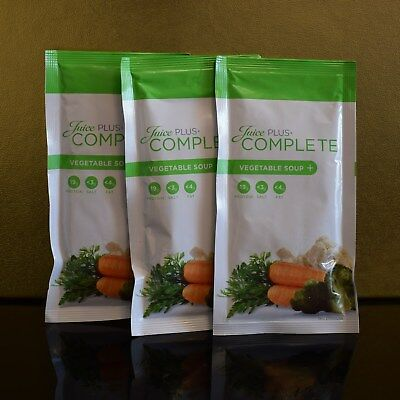 Juice Plus Vegetable Soup Complete 3xSachets Meal Replacement Trial Int Shipping