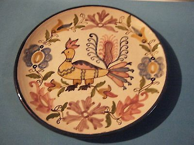 Vintage Greek Hand Made & Painted Ceramic Pottery Decorative Plate