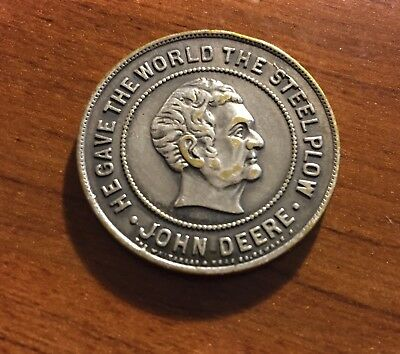 "VINTAGE JOHN DEERE ""HE GAVE THE WORLD""  WITH A  Deer Logo  ON OBVERSE OF Coin"