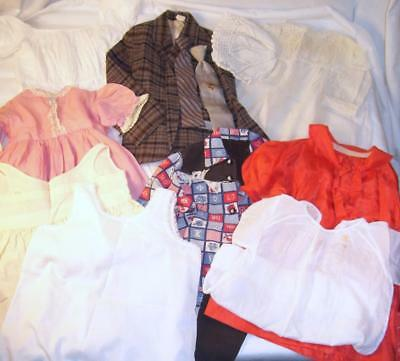 Lot 12 Vtg Baby Toddler Boys Girls Clothes Dresses Cowboy Pants Jacket 40s -60s
