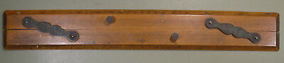 "c.1900 ""Capt. Fields Improved"" Parallel Ruler, Boxwood & Brass, 21"" Long (532mm)"