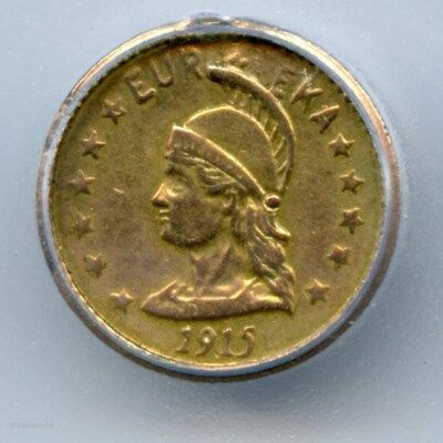 1915 Rd $1 Minerva Hart's Coins of the West / ICG