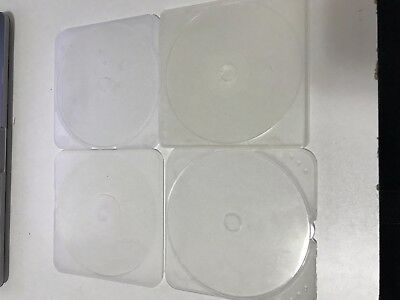 15 Slim Single Clear Clamshell CD Cases