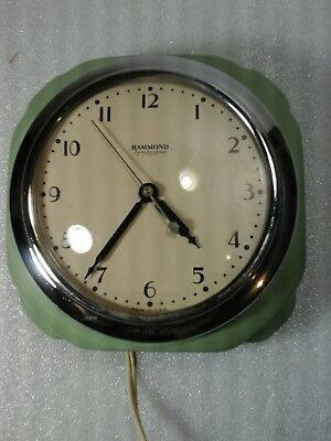 Vintage Hammond Synchronous Wall Clock