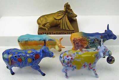 Cow Parade 5 Piece Lot Retired Rare Pieces Starts at 1 Cent with NO RESERVE