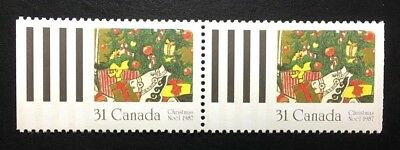 Canada #1151 MNH, Christmas Pair of Stamps 1987