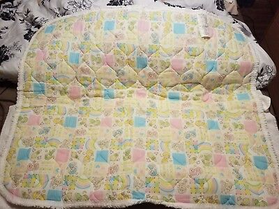 ULTRA RARE VINTAGE NEW Riegel Teddy Beddy Sleepy Bear Ruffled Blanket 36X46