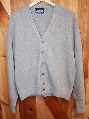 Arnold Palmer Robert Bruce ~ Vintage Cardigan Sweater ~ Grey ~ Men's Medium