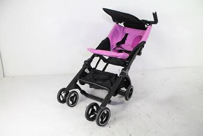 gb 616230018 Pockit Stroller Small but strong, One-hand push, Pink, 9.5 Pounds