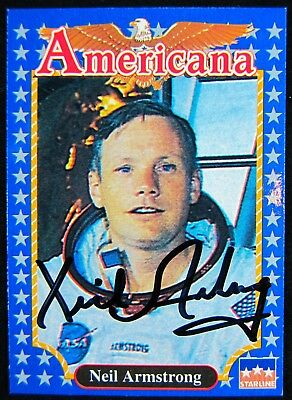 Neil Armstrong Autographed Card