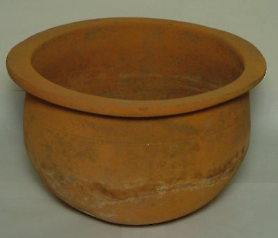 Genuine ancient Roman ceramic wheel made clay vessel/Jug/Vase/pottery Kylix RARE
