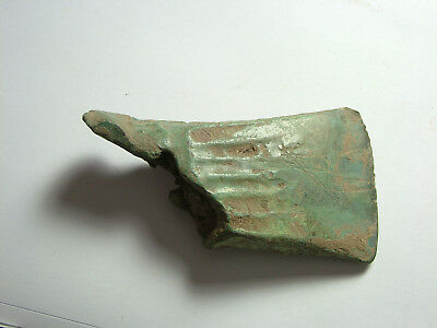 Genuine ancient bronze age battle hand axe celt tool artifact patina uncleaned