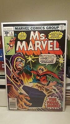 Ms. Marvel #4.      (Nm. 9.4)     ~Movie Coming Soon~      First Print.     1977