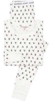 Victoria's Secret Thermal  Pj Set White Whimsical Forest Size Small NWT